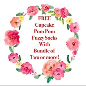 Other - FREE Cupcake Socks with Bundle of two or more!